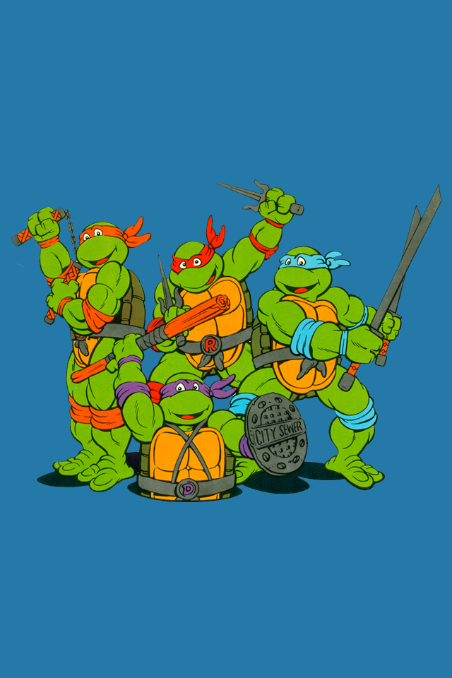 TMNT Retro Cartoon IPhone Lock Wallpaper By FistfulOfYoshi