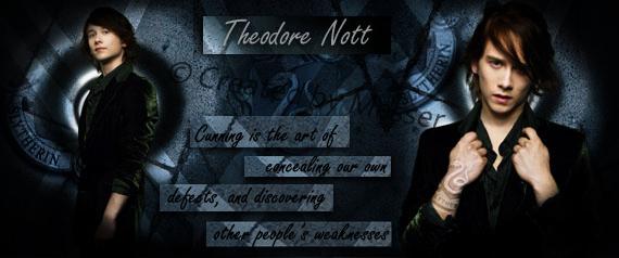 It's Nott, not Teddy by MesserWorks on DeviantArt Theodore Nott Actor