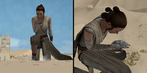 Giantess Rey Makes a Discovery