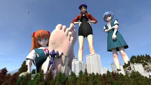 Astronomical Asuka's Foot Massage