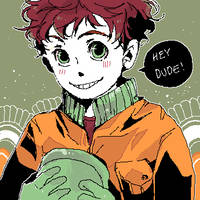 kyle's curly hair by jingerial