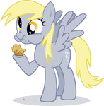 Derpy Hooves eating muffin