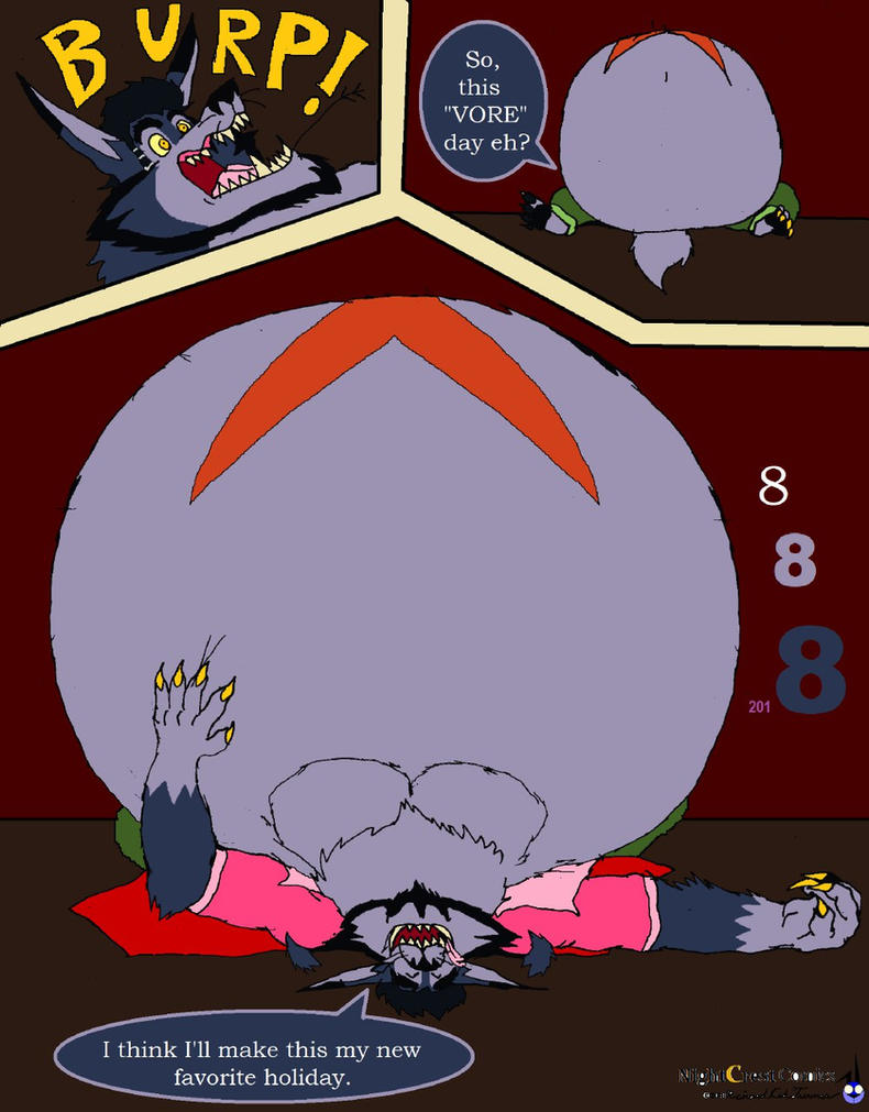 The wolf ate 8 something Vore the day by NightCrestComics