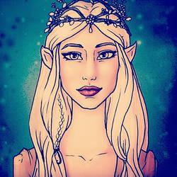Nienna Greenleaf : Thranduil's daughter. by PureMiwa