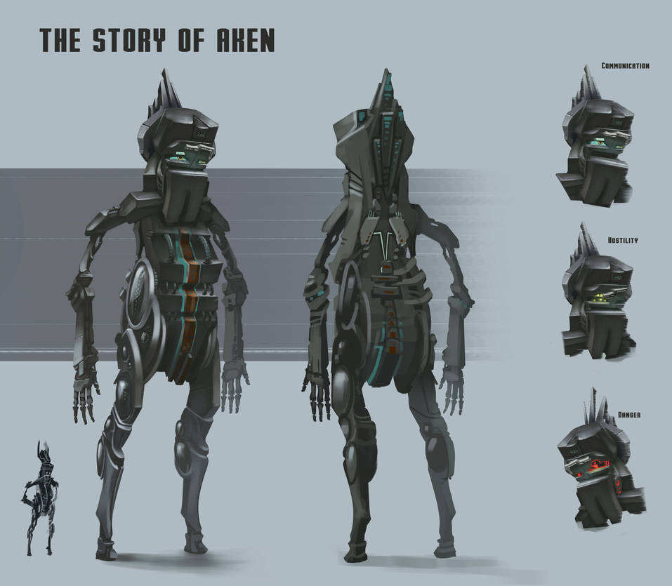 The Story Of Aken: Aken character design