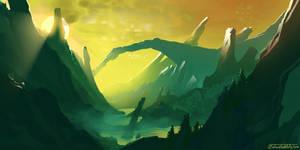 Mountain Swamps - speedpaint