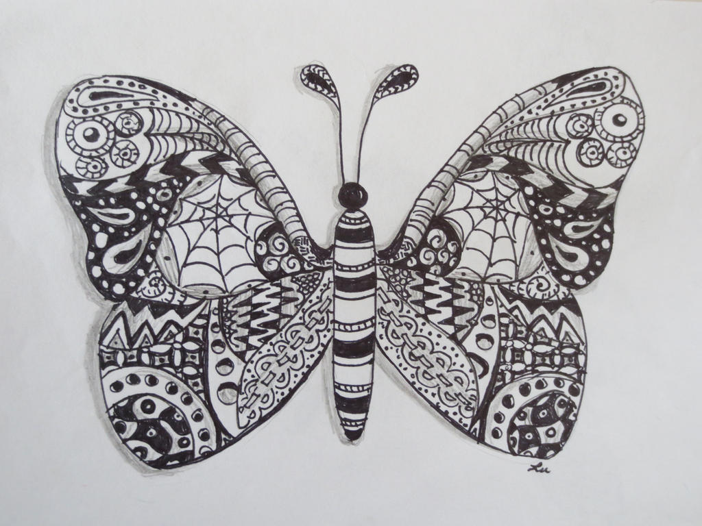 Zentangle Color Butterfly Viewing Gallery