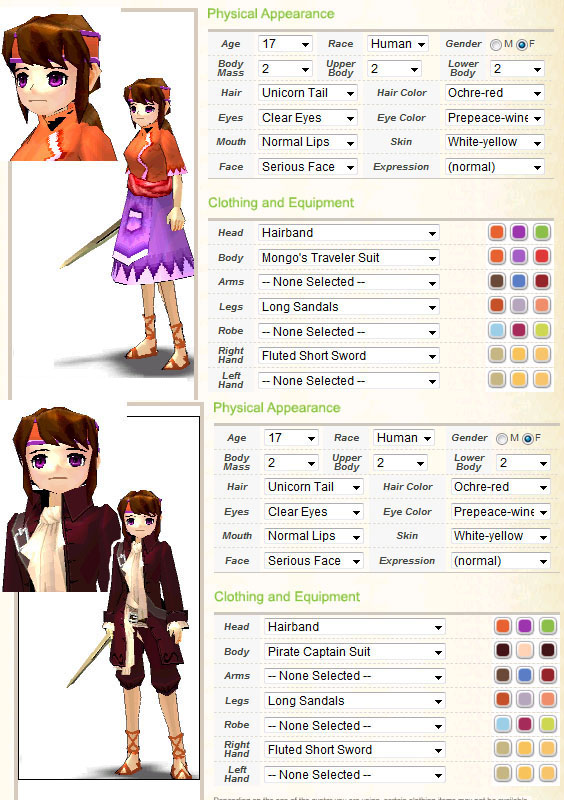 Character Design Generator Game : Mabinogi character maker april by mare of night on deviantart