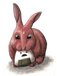 Onigiri Rabbit by mare-of-night