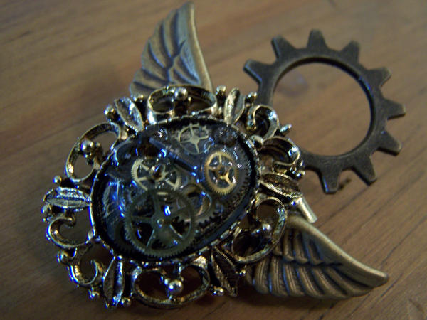 on art necklace clockwork deaddamien by deviantart