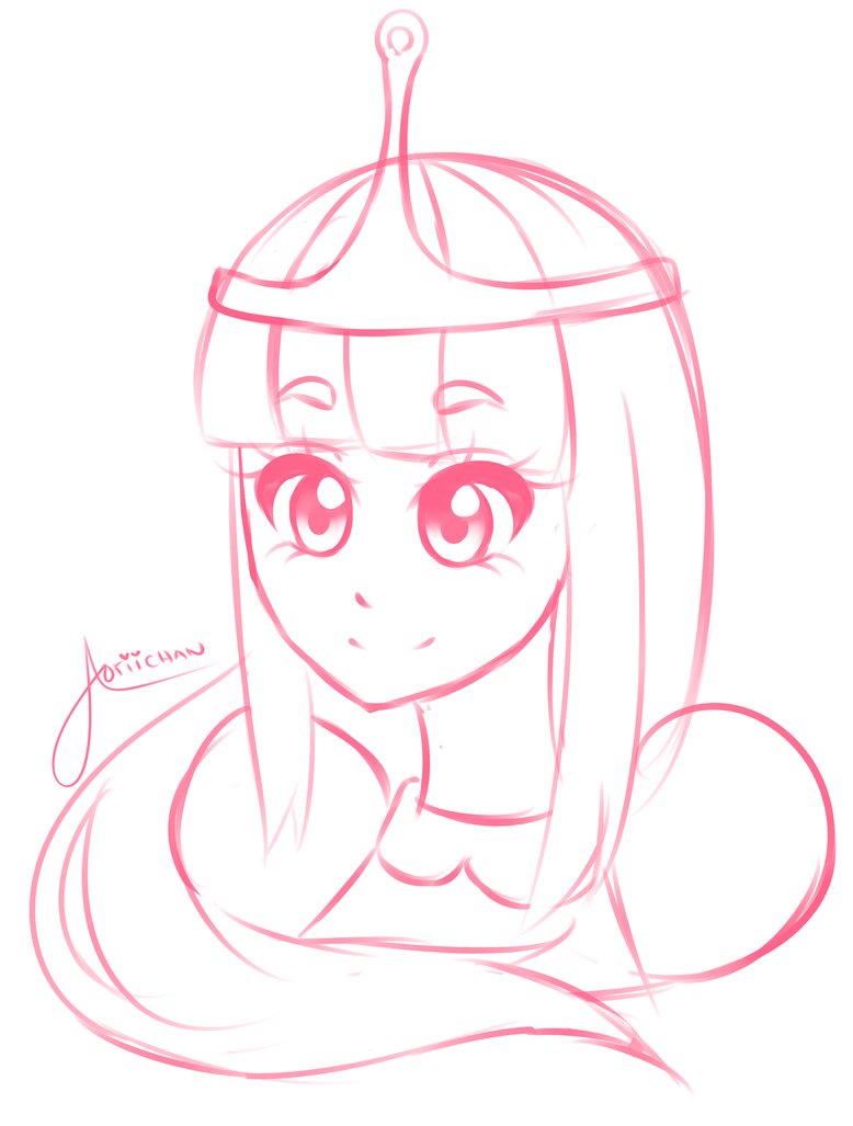 Princess Bubblegum Sketch By AoriiHasMoved
