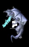 Grey Dragon Ice Breath with Ground Shadow