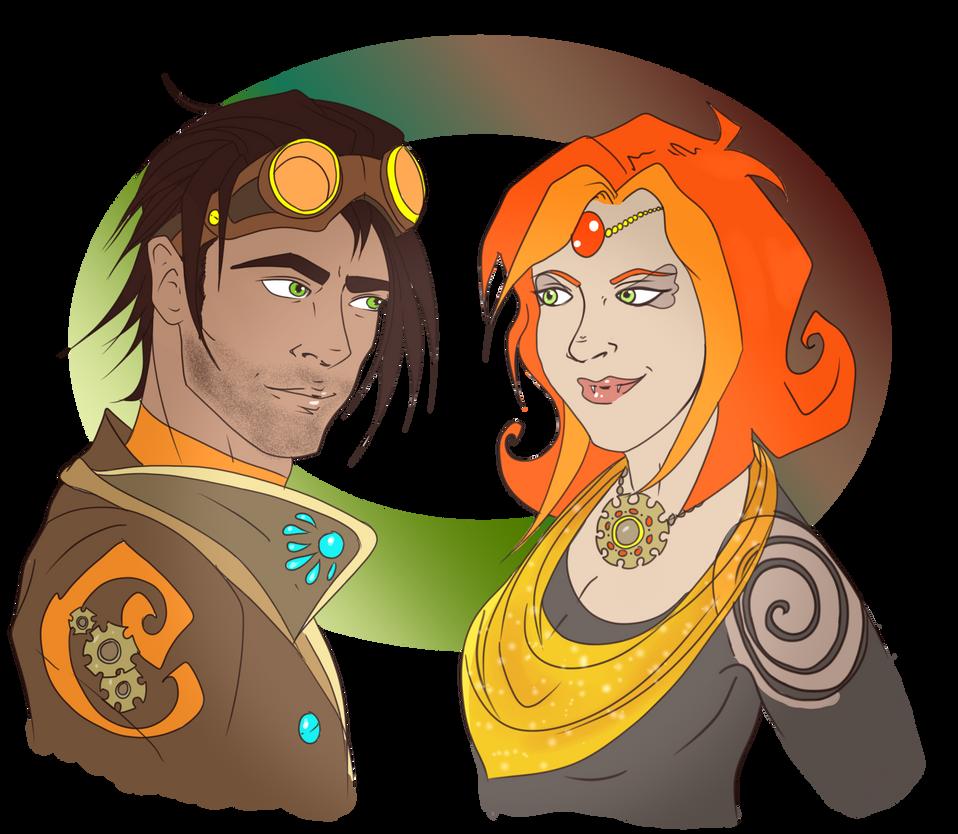 Gaeron and Indi by emilytarot