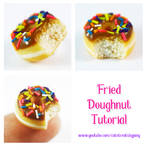 Fried doughnut tutorial by Cutetreatsbyjany