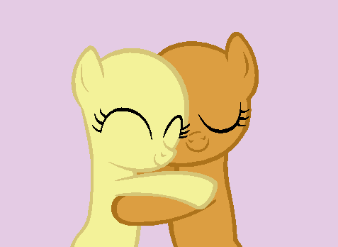Fillies Hugging - Base by Rain-Approves
