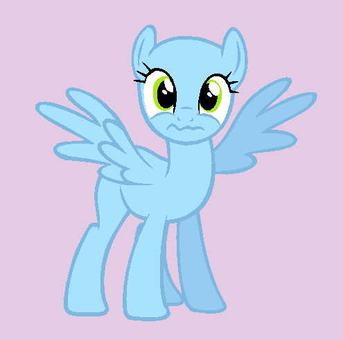 картинка пони без волос