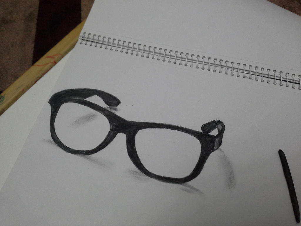 3D glasses drawing