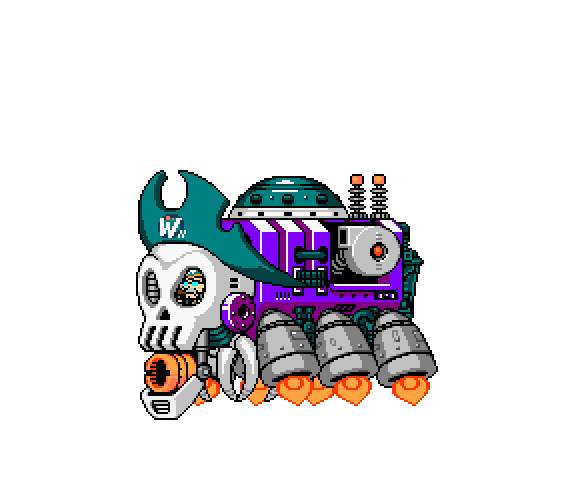 Wily II Pirate Ship, phase 1 by anime86fan