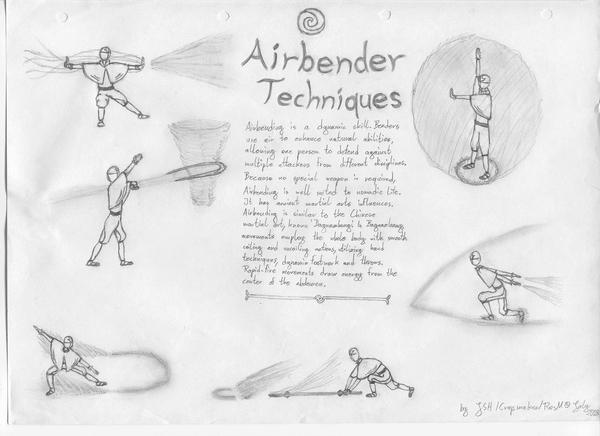 airbending techniques by jonasanhaku on deviantart