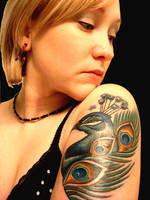 peacock tattoo by gimmesummo