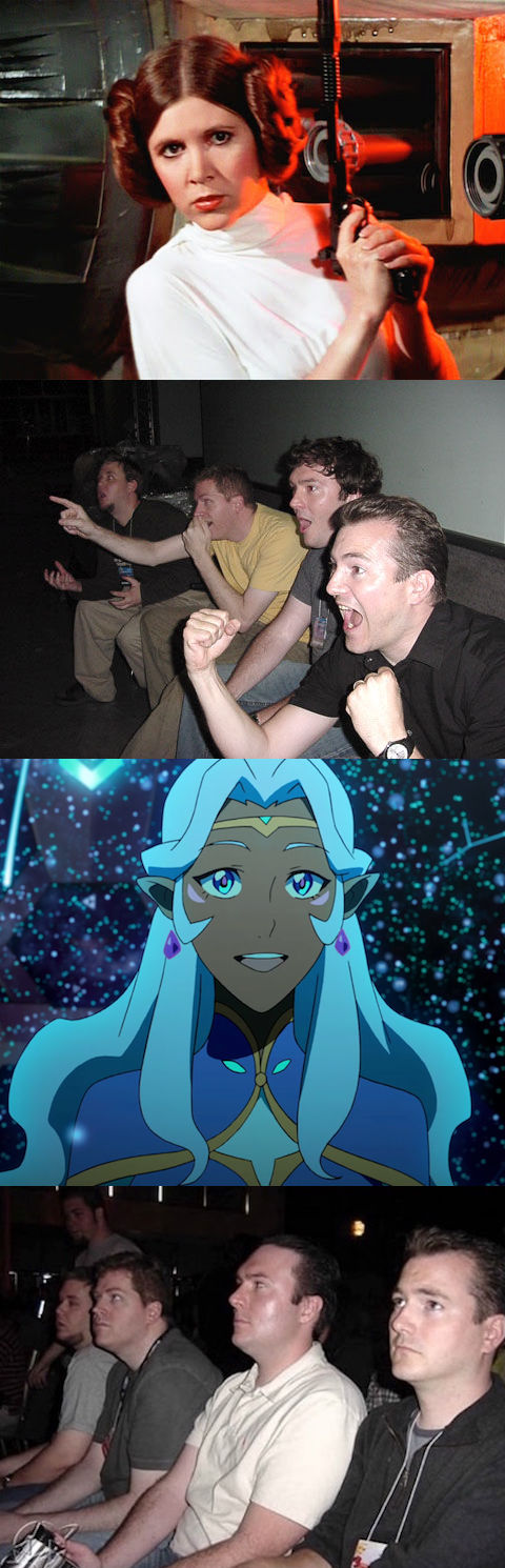 Reaction Guys - Princess Leia vs Princess Allura