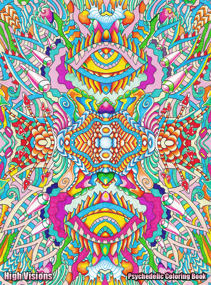 high visions psychedelic coloring book 2 by koalacid - Psychedelic Coloring Book