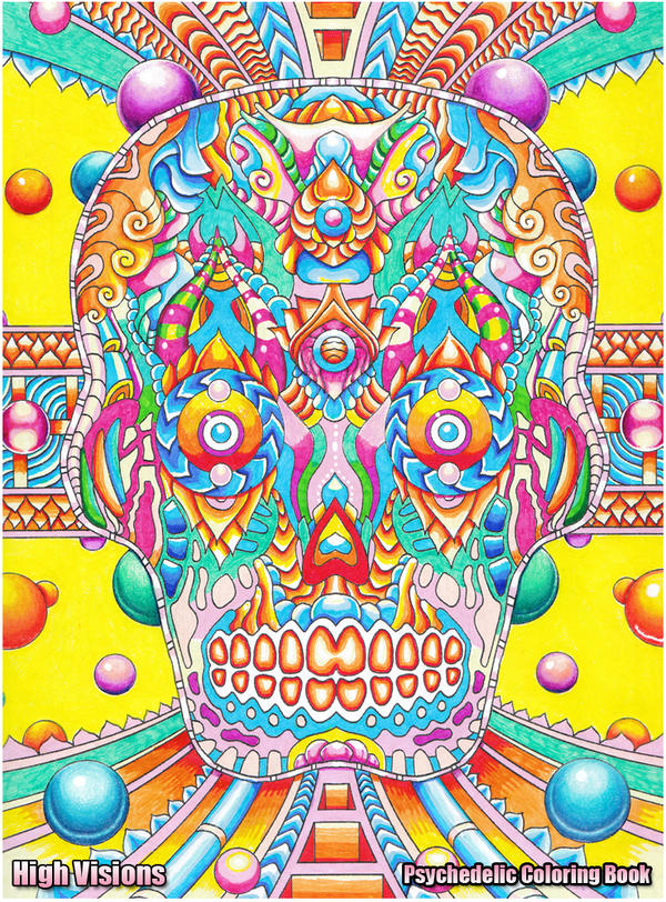 Psychedelic Skull by koalacid