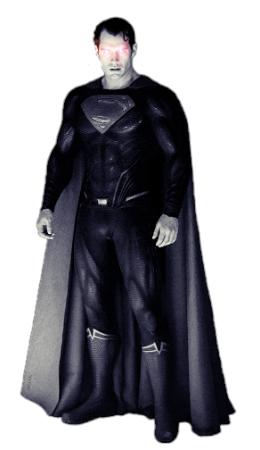 Download The Image Of The Evil Superman With Black Suit: Black Evil Superman JUSTICE LEAGUE PNG By Umer2022 On