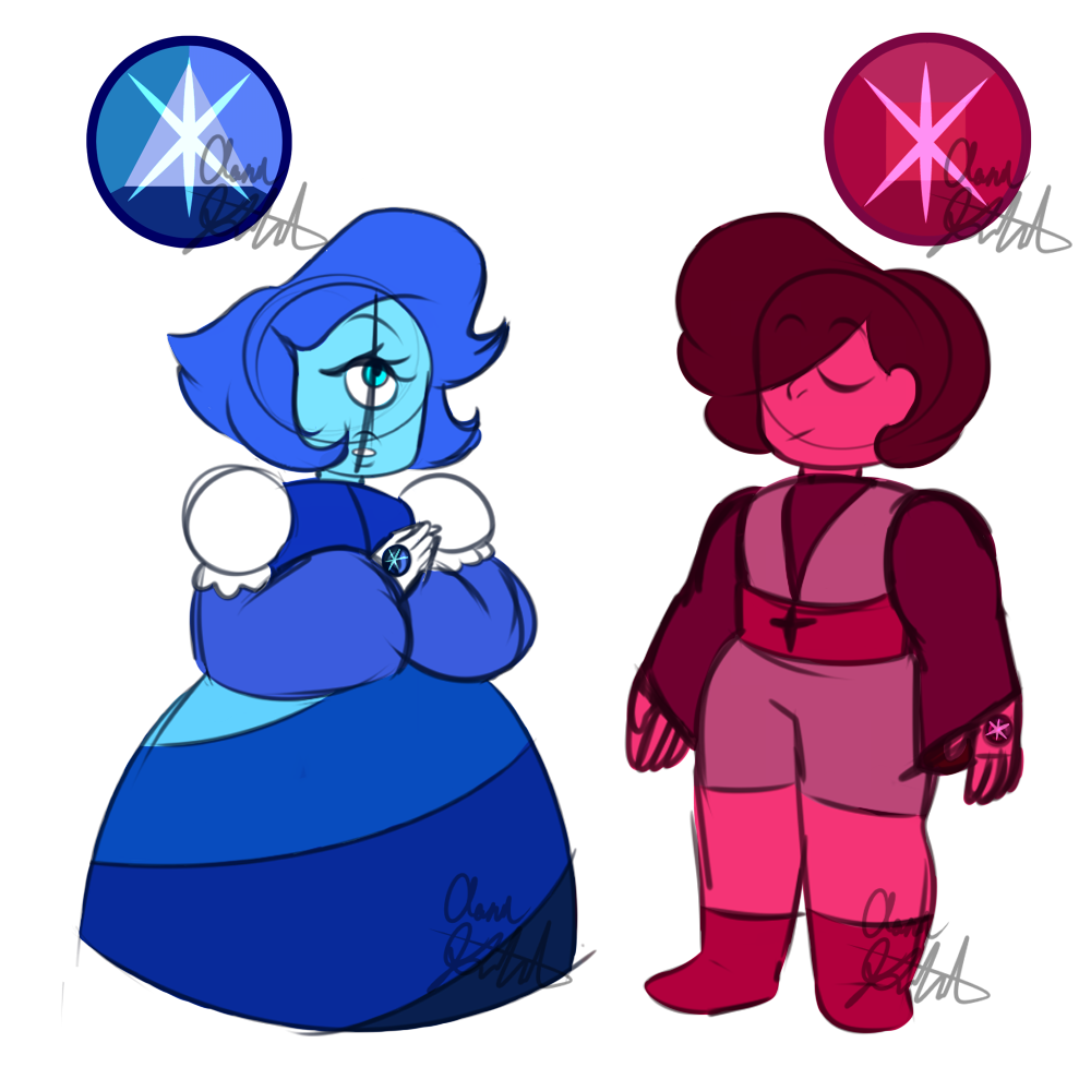 Star sapphire and star ruby by aaron goforth on deviantart - Ruby and sapphire su ...