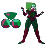 Anyolite ( Garnet/Peridot )