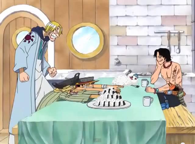 Image result for sanji scolding luffy