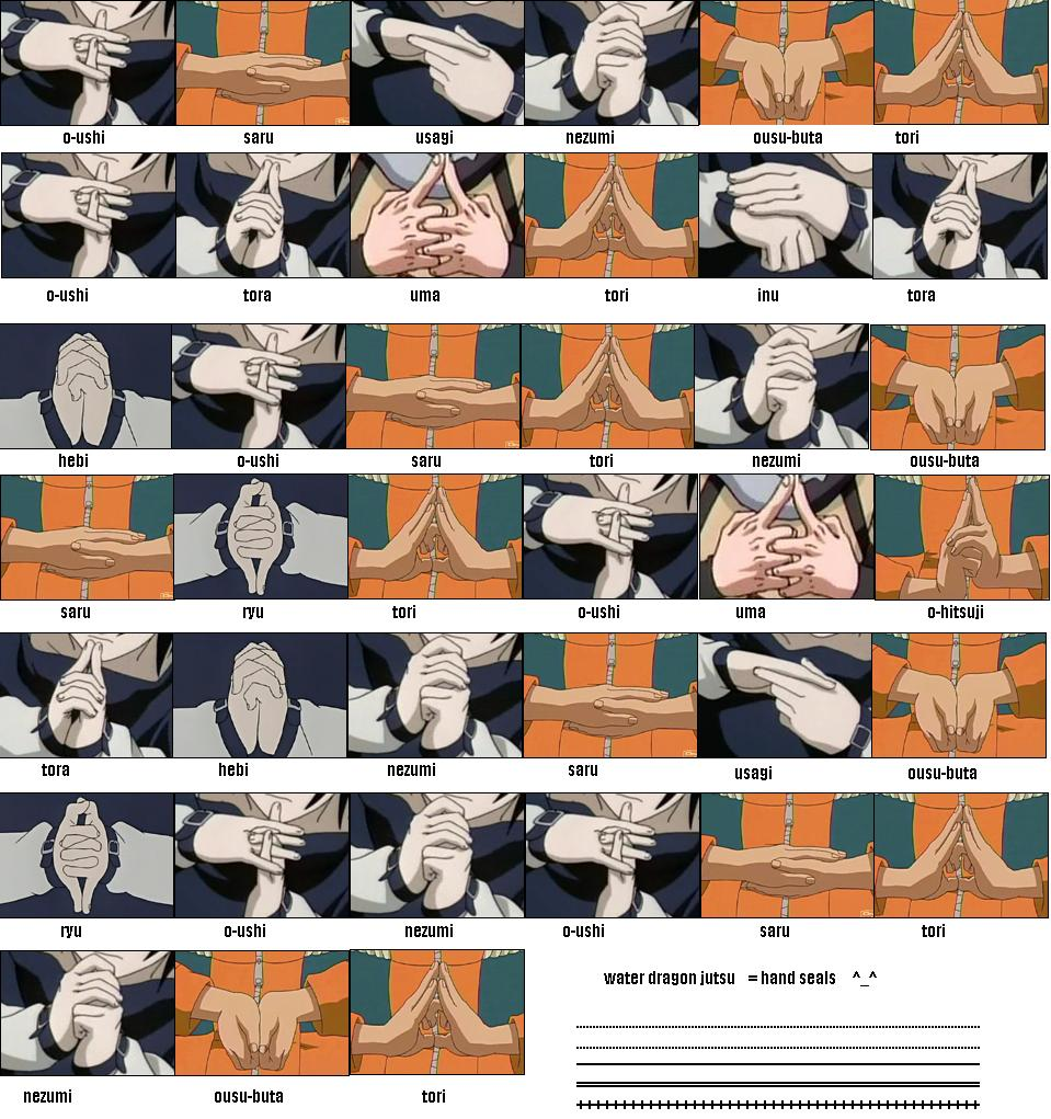 how to make naruto hand signs
