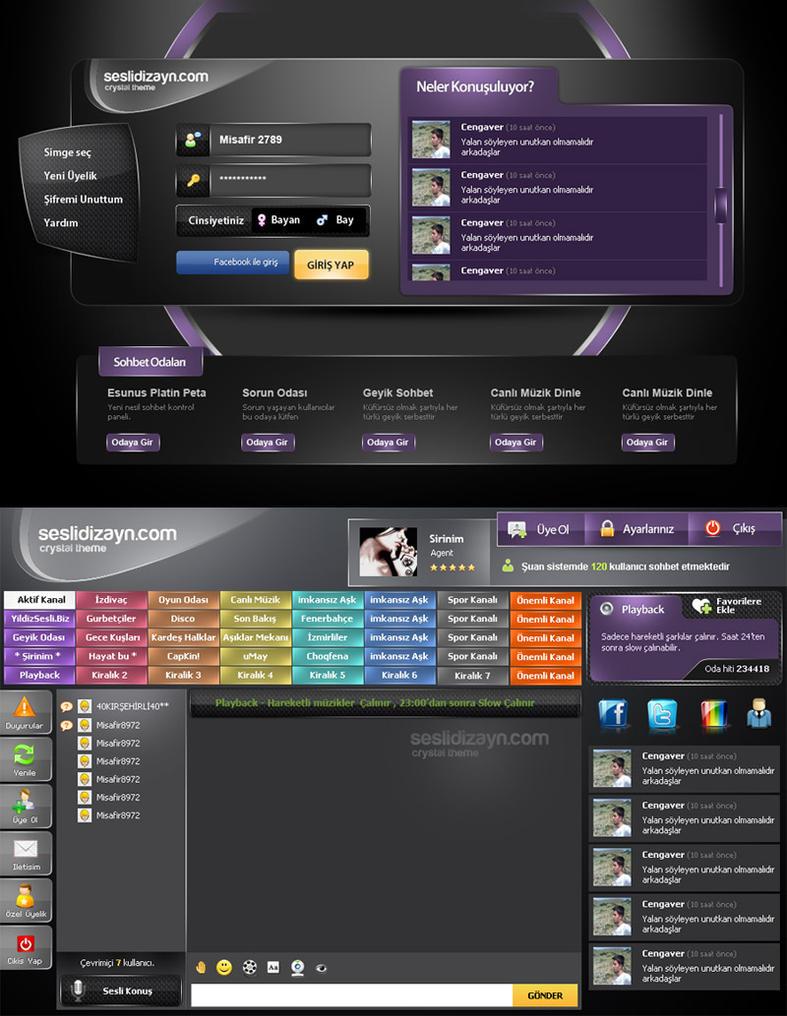 seslidizayn.com Chat Interface by cenkakyildiz