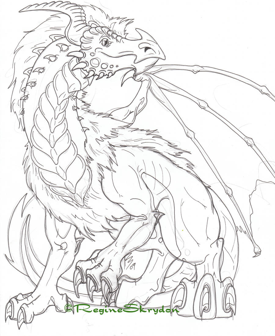 detailed dragon coloring pages - photo #1