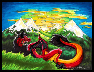 Red Dragon - Chilltop Colored by RegineSkrydon