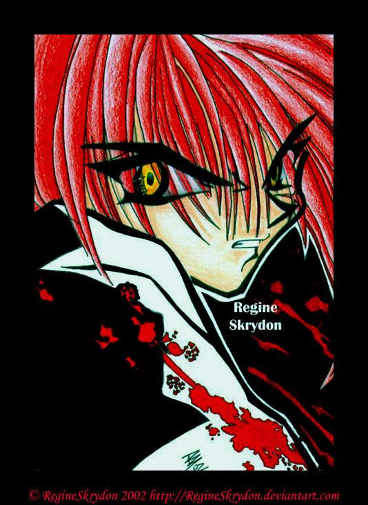 Kenshin - Blood Spatter by RegineSkrydon