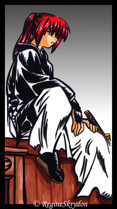 Kenshin - Debating Markers by RegineSkrydon