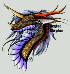 Dragons - Asian Portrait by RegineSkrydon
