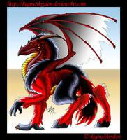Dragons - Red Dragon C by RegineSkrydon