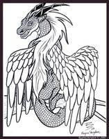 Dragons - pertched by RegineSkrydon