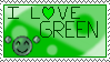 I Love Green - Stamp by Sunrise-LoneWolf