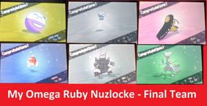 The Final Team of My Omega Ruby Nuzlocke