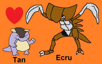Ecru and Tan