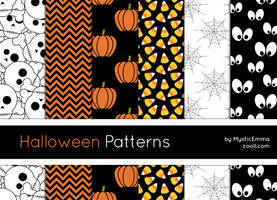Halloween Patterns by MysticEmma