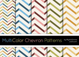 MultiColor Chevron Patterns by MysticEmma