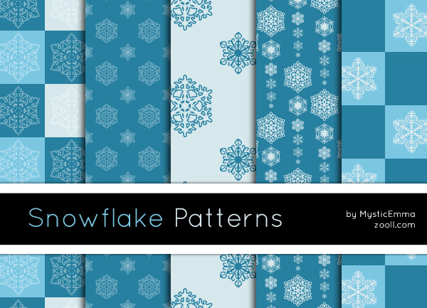 Snowflake Patterns by MysticEmma