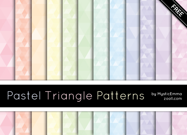 Pastel Triangle Patterns by MysticEmma