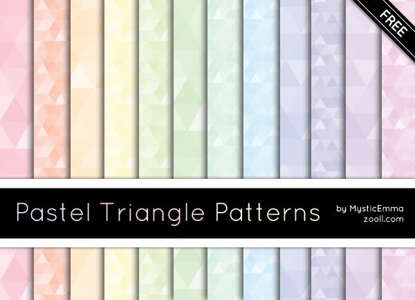 Pastel Triangle Patterns