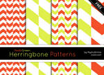 Red And Green Herringbone Patterns