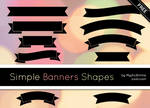 Simple Banners Shapes by MysticEmma